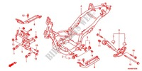 FRAME CHASSIS (WW125SB) voor Honda PCX 125 2011