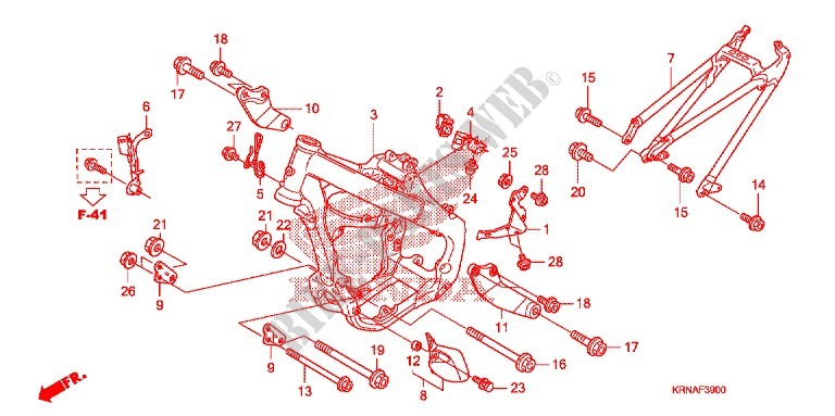FRAME CHASSIS voor Honda CRF 250 R 2010